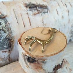 Earring Reindeerantler Bronze