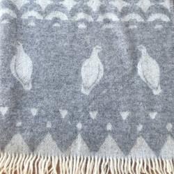 Wool Blanket Grouses Skum&Skum Grey White