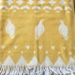 Wool Blanket Grouses Skum&Skum Yellow White