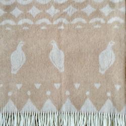 Wool Blanket Grouses Skum&Skum Beige White