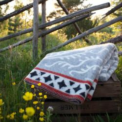 Wool Blanket Albertus Grey