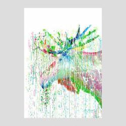 Konstkort Älg Art Miriam