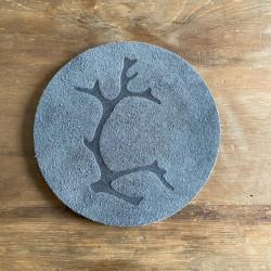 Trivet Reindeerantler Grey