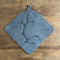 Potholder Reindeerantler Grey
