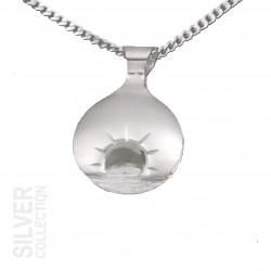 Pendant Midnightsun Large Silver By Jokkmokks Tenn