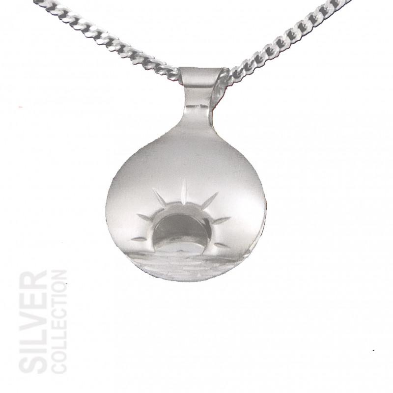 Halsband Midnattssol Stor Silver Från Jokkmokks Tenn