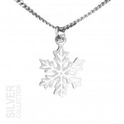 Halsband Snöstjärna Liten Silver Från Jokkmokks Tenn