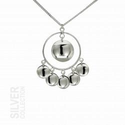 Halsband Solglitter Stor Silver Från Jokkmokks Tenn