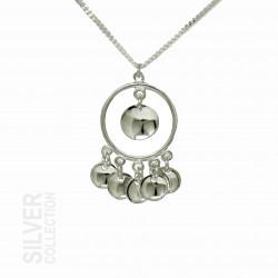 Halsband Solglitter Liten Silver Från Jokkmokks Tenn