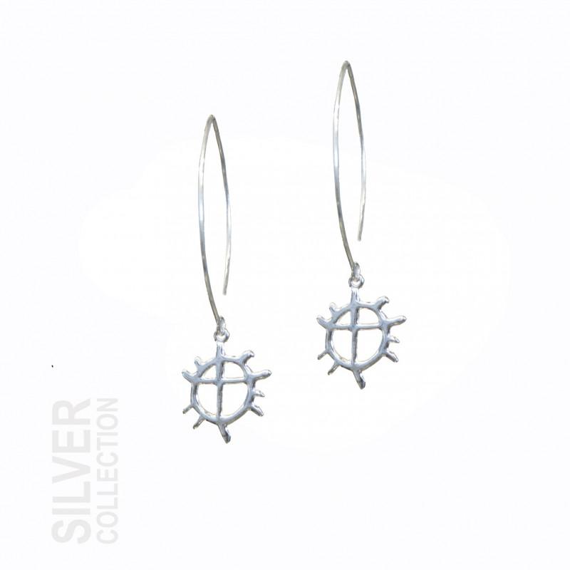 Earrings Sunwheele Large Silver By Jokkmokks Tenn