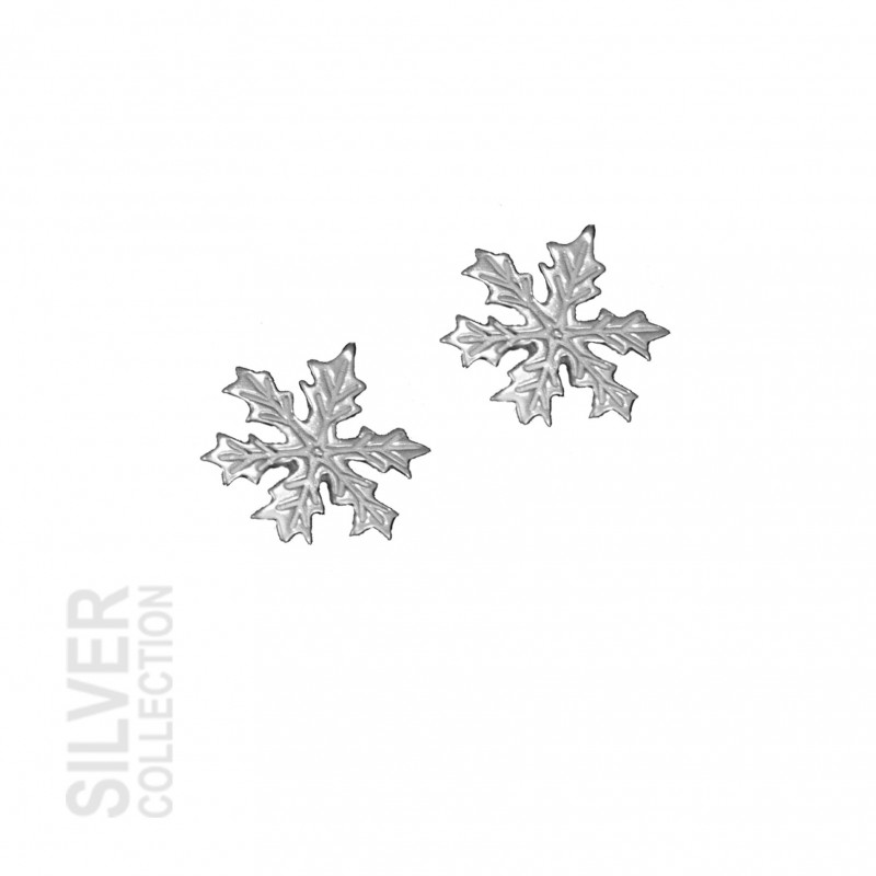 Earrings Snowflake Small Silver By Jokkmokks Tenn