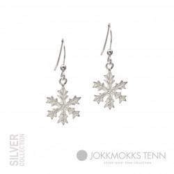 Earrings Snowflake Medium Silver By Jokkmokks Tenn