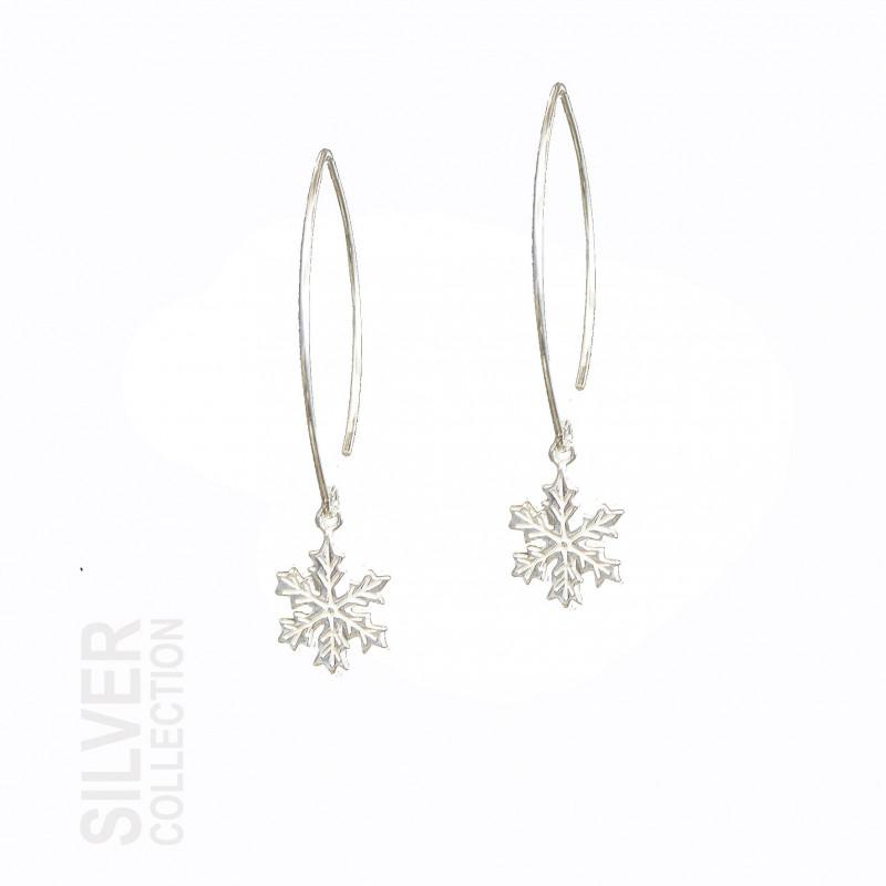 Earrings Snowflake Large Silver By Jokkmokks Tenn