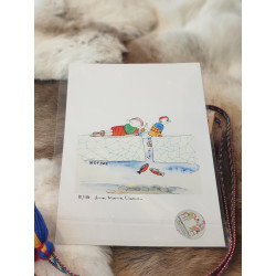 "Fine Art Print ""Shoe Fishing"" By Lina Maria Viitala"