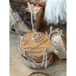 Brooch Reindeer Large Silver