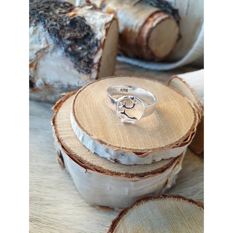Ring Reindeer Silver