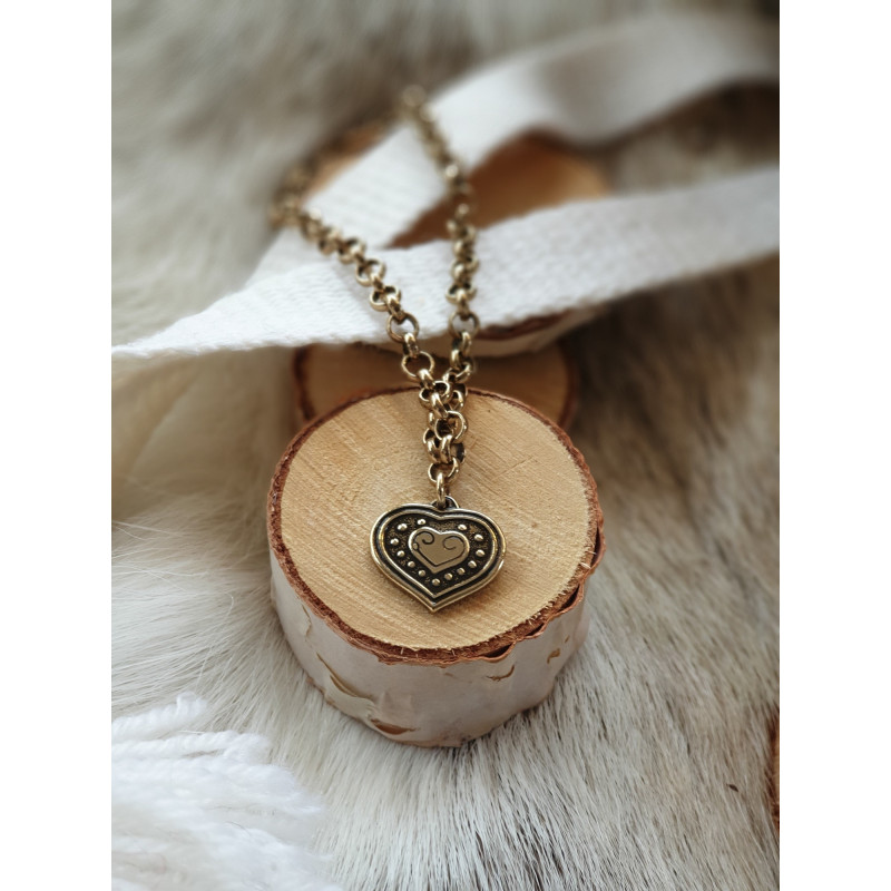 Armband Vintage Heart Brons Från Kalevala