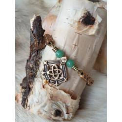 Bracelet Vintage Turquise Bronze By Kalevala