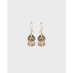 Earrings Moon Goddess Small Bronze  By Kalevala