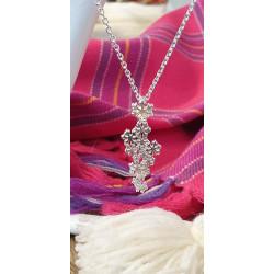 Halsband Snöstjärna Silver Stor