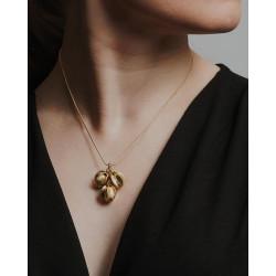 Halsband Snöblomma Mellan Brons Från Kalevala