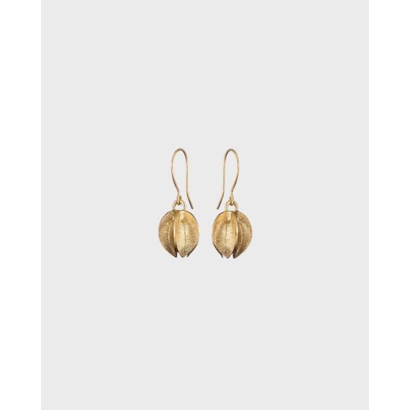 Earrings Snowflower Medium Bronze By Kalevala