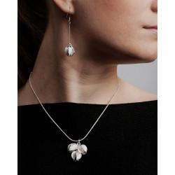Earrings Snowflower Large Silver By Kalevala