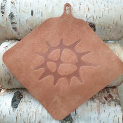 Pot Holder Leather Sun Brown