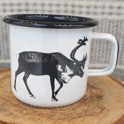 Mug Enamel Reindeer