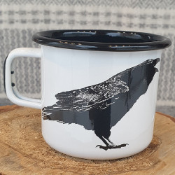 Mug Enamel Raven