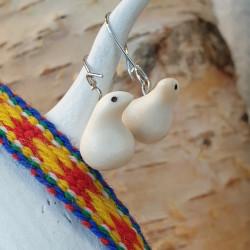 Earrings Grouse Reindeerhorn