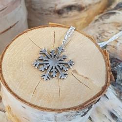 Pendant Snowflake Silver Antik