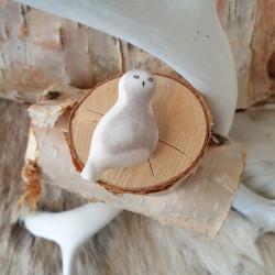 Brooch Owl Reindeerantler
