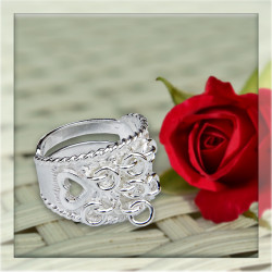 Ring Silver With Decorationsrings And Heart-details