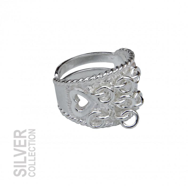 Silver Ring Dekorationsringar Hjärtan