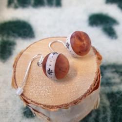 Earrings Sphere Birch...