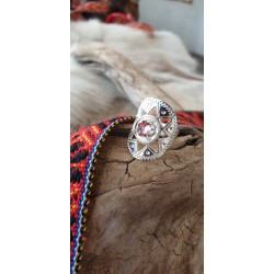 Ring Silver Light Pink Stone By Torild Labba