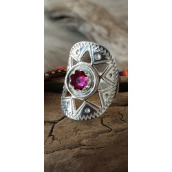 Ring Silver Cerice Stone By Torild Labba