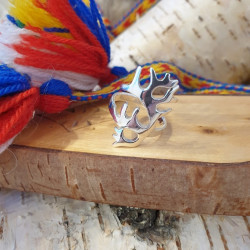 Ring Reindeerhorn Silver By...