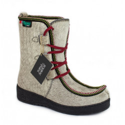 Boots Women Cowhide Wool...