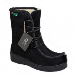 Boots Women Cowhide Wool...
