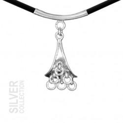 Halsband Vaisa Silver Svart...